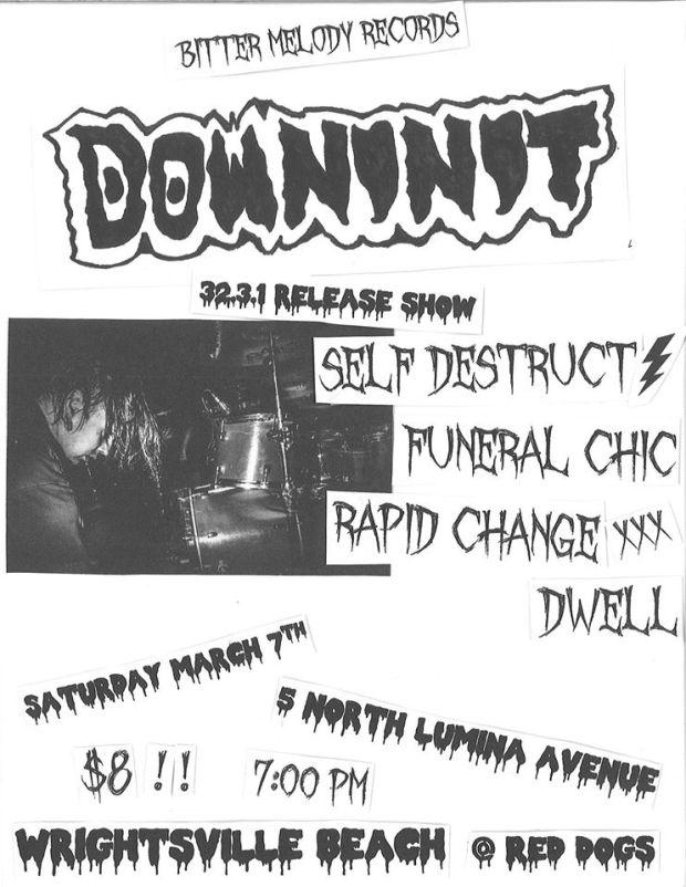 down in it show flyer