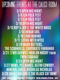 THE CALICO ROOM - Mar Schedule